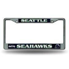 Seattle Seahawks Metal Chrome License Plate Frame Auto Truck Car NFL