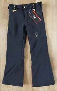 Spyder Girls Black POSH Snow Pants Size 8 NWT