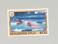 Maldives #1755 Olympics, Swimming 1v Imperf Proof