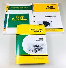 Service Parts Operators Manual Set For John Deere 3300 Combine Shop Book Catalog