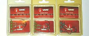 VMC Barbarian 1/8 & 1/16 Shakey Head Jigs (Lot of 3-Olive/Natural-4 Per Pack)
