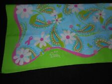 USA Lilly Pulitzer Ford Scarf Green Blue Pink Daisies Courage Hope Love