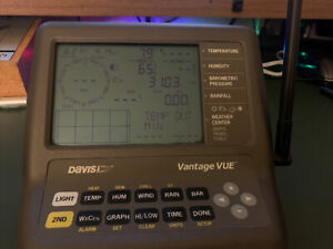 Davis Vantage VUE 6351 weather station console/ receiver only: Works Well