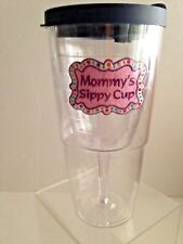 TERVIS Mommys Sippy Cup Clear 16 oz Wine Insulated Tumbler Lid Funny Gift USA