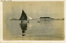 Croatie, Split, Vue de la baie et d'un voilier, ca.1910, vintage silver pri