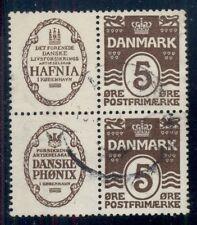 DENMARK (RE1,2) Block of 4 HAFNIA DANSKE PHONIX used