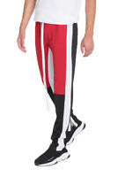 Mens Track Pants Color Block Jogger Polyester Side Ankle Zip 10 COLORS AVAILABLE