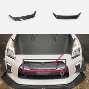 For Nissan R35 2017+ GTR MY17 Carbon Fiber Front Bumper Grille Grill Mesh Cover