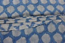 Wood Block Hand Block Print Running Fabric 5 Yard 100% Natural Cotton Fabric FD2
