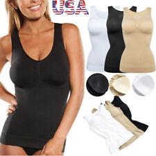 Women Cami Shaper with Built in Bra Tummy Control Camisole Tank Top Body Shaper
