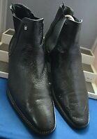 MORESCHI ~ITALY SMART CLASSIC BLACK SUPPLE LEATHER CHELSEA BOOTS UK 10 EU 45