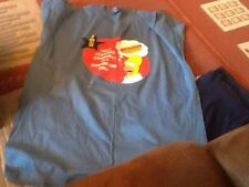 Homer Simpson Extra Large XL Condiment Tee Shirt And 100% Cotton