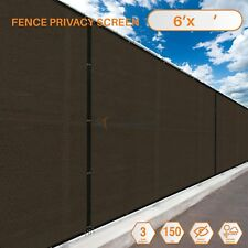 Customize 6'FT Privacy Screen Fence Brown Commercial Windscreen Shade Cover Mesh