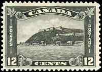 Canada #174 mint VF OG HR 1930 Scroll 12c grey black Quebec Citadel CV$50.00