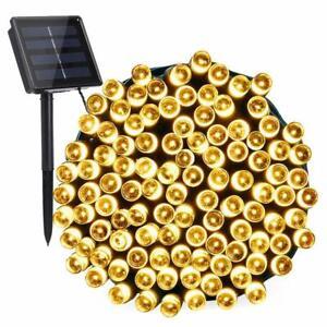 50/100/200/500 LED Solar Power Fairy Garden Lights String Outdoor Party Wedding