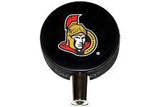 Ottawa Senators Basic Logo NHL Hockey Puck Beer Tap Handle