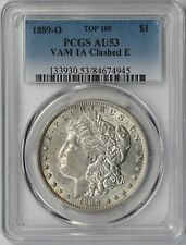 1889-O $1 PCGS AU 53 (Top-100 VAM-1A Clashed E) Morgan Silver Dollar R-6
