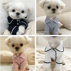 New Various Pet Puppy Small Dog Cat Pet Clothes Sleep T Shirt Apparel Clothes
