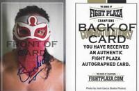 El Bandido Autographed Signed Fight Plaza Trading Card Lucha Libre Crash All In