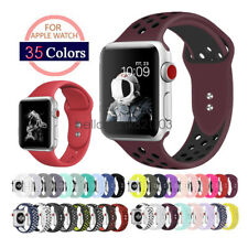 Replacement Silicone Sport Watch Band Strap For Apple Watch 44mm 40mm 42mm 38mm