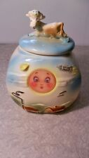 American Bisque Cow Jumped Over The Moon Cookie Jar With Flasher #806 USA