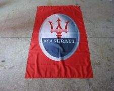New Car Racing flags For RED Maserati Flag 3X5 FT--Free Shipping