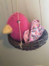 Pottery Barn Kids Bird Nest Penelope Hanging Nursery Bedroom Decor RARE Pink
