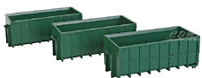 Walthers SceneMaster 1/87 HO Scale 3 Large Green Dumpsters #949-4100