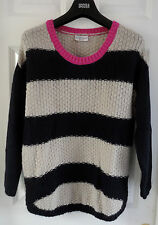 M&S Indigo Collection SZ 14 Striped Jumper with Mohair, BNWT, Was 39.50