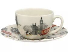 Cath Kidston Royal Stafford Disney Mickey in London Cup and Saucer RARE LTD ED