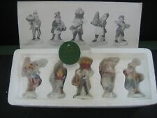 """Dept. 56 Village Accessories """"Early Rising Elves"""" #56369 Set of 5 Handpainted"""