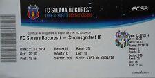 TICKET UEFA CL 2014/15 Steaua Bukarest - Stromsgodset IF