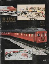 K-LINE ELECTRIC TRAINS 1993 FIRST EDITION CATALOG