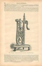 Chandelier en fer forgé XVIIe Siècle Musée Kensington Londres GRAVURE PRINT 1878
