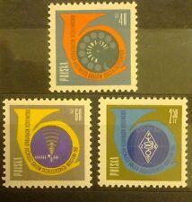POLAND STAMPS MNH 1Fi1100-02 Sc991-3 Mi1100-02-Conference of Communications,1961