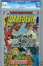 Daredevil #133 May 1975 White Pages CGC 9.4 Uri Geller