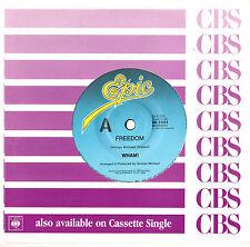 "GEORGE MICHAEL - FREEDOM / FANTASY - 7"" 45 VINYL RECORD 1990"