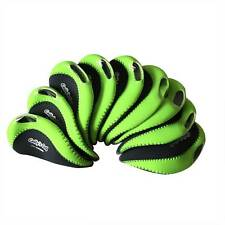 Neoprene Golf Club Iron Covers Head covers Head Green Korean Golf Set of 9