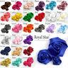 DIY 20/100PCS Satin Ribbon Rose Flower 25/40/50 mm Craft/Wedding Appliques Decor