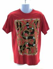 Popular Poison Mens Shirt Size Medium Red Graphic Tee