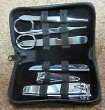 Six Tool Manicure Kit in Luxurious Cowhide Case