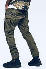 G-STAR RAW Rovic Tapered Zip 3D Khaki Green Cargos Pants Mens W32 L32 Worn Once!