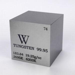 Wolfram Metall 25.4mm Würfel 99.95% Markiert Periodensystem Elementesammlung