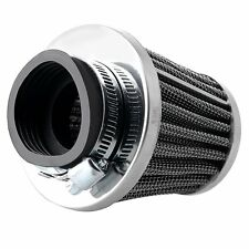 Motorcycle 54mm Tapered Chrome Pod Air Intake Air Filters Clean 1PCS