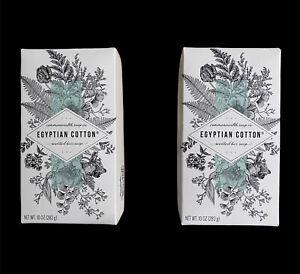 X2 Commonwealth Soap Co. (CST) Egyptian Cotton Luxurious Cream Bar Soap 10oz ea