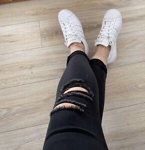 Stylische Adidas Superstar Sneakers Turnschuhe in Weiß Gr. 39 1/3 blogger
