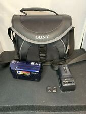 PreOwned Sony DCR-SX41 8 GB Camcorder Blue With Travel Bag Charger And 4gb Card