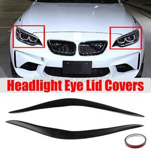 FOR BMW 2 SERIES F22 M235i M2 14-18 Matte black HEADLIGHT EYE LID COVER EYEBROW