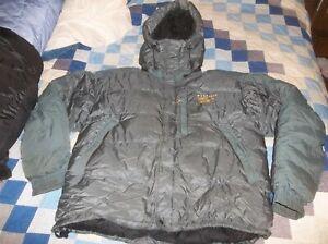 NICE Mountain Hardwear Goose Down Sub Zero Jacket Coat BAFFLED Belay Parka XL