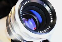 RARE Silver Carl Zeiss Jena Biotar 1:2 F=58 MM SLR lens M42 mount EXC